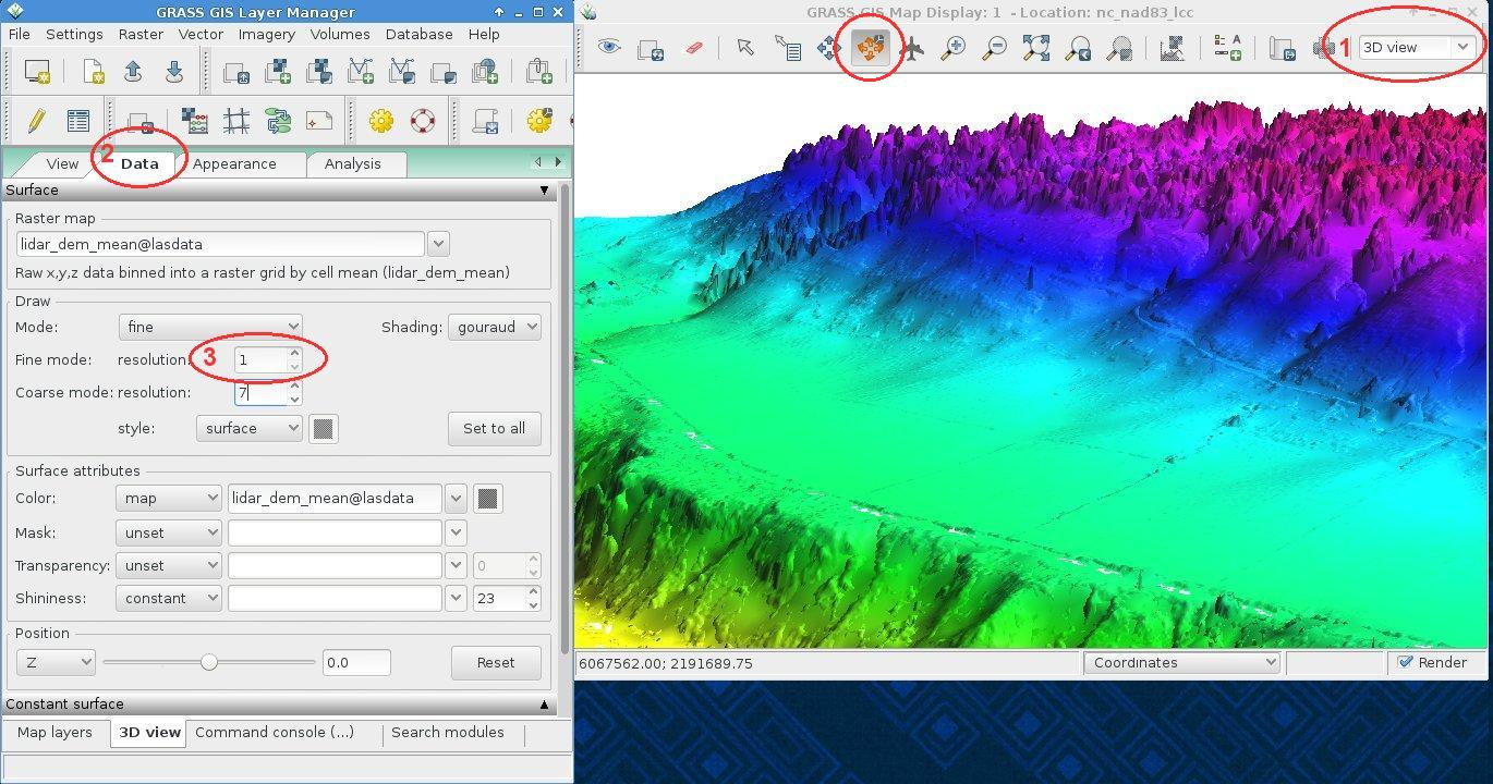 Importing and visualizing LAS LiDAR files in GRASS GIS 7: r