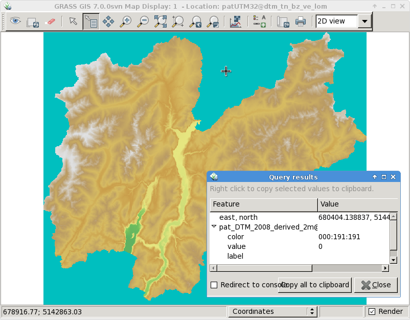 Selective data removal in an elevation map by means of floodfilling ...